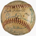 Baseball Collectibles:Balls, 1953 Brooklyn Dodgers Team Signed Baseball....
