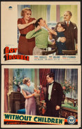 "Movie Posters:Drama, Without Children & Other Lot (Liberty Pictures, 1935). Lobby Cards (2) (11"" X 14""). Drama.. ... (Total: 2 Items)"