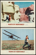 "Movie Posters:Hitchcock, North by Northwest (MGM, 1959). Lobby Cards (2) (11"" X 14"").Hitchcock.. ... (Total: 2 Items)"