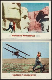 "North by Northwest (MGM, 1959). Lobby Cards (2) (11"" X 14""). Hitchcock. ... (Total: 2 Items)"