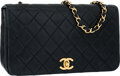 "Luxury Accessories:Bags, Chanel Black Quilted Lambskin Leather Small Single Flap Bag withGold Hardware. Very Good Condition. 9"" Width x 5""Hei..."