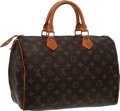 "Luxury Accessories:Bags, Louis Vuitton Classic Monogram Canvas Speedy 30 Bag . Very GoodCondition. 12"" Width x 10"" Height x 7"" Depth . ..."