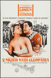 "Two Nights with Cleopatra (Ultra Film, 1964). One Sheets (3) (27"" X 41"") and Photos (2) (7.5 X 9.5"" &..."
