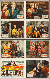 """A Ticket to Tomahawk (20th Century Fox, 1950). Lobby Card Set of 8 (11"""" X 14""""). Comedy. ... (Total: 8 Items)"""
