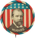 Political:Pinback Buttons (1896-present), Charles Evans Hughes: Extremely Rare and Colorful PortraitButton....