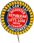 Political:Pinback Buttons (1896-present), Franklin D. Roosevelt: Devastating Anti-Landon Button....