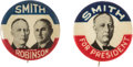 Political:Pinback Buttons (1896-present), Smith & Robinson: Jugate and Matching Picture Pin.... (Total: 2 Items)