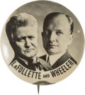 Political:Pinback Buttons (1896-present), LaFollette & Wheeler: Real Photo Jugate....