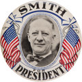 "Political:Pinback Buttons (1896-present), Al Smith: Great 4"" Picture Pin...."