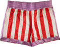 "Movie/TV Memorabilia:Costumes, A Pair of Boxing Trunks from ""Rocky IV.""..."