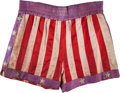 """Movie/TV Memorabilia:Costumes, A Pair of Boxing Trunks from """"Rocky IV.""""..."""