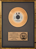 "Movie/TV Memorabilia:Awards, An RIAA Gold Record Award for ""Gonna Fly Now (Theme fromRocky).""..."