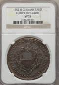 German States:Lubeck, German States: Lubeck. Free City Pair of Certified Talers 17521776,... (Total: 2 coins)