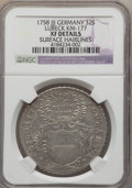 German States:Lubeck, German States: Lubeck. Free City Lot of Two Certified 32 SchillingCoins 1758,... (Total: 2 coins)