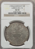 German States:Lubeck, German States: Lubeck. Free City Pair of Certified 32 SchillingCoins 1758 1796,... (Total: 2 coins)