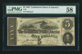 Confederate Notes:1863 Issues, T60 $5 1863 PF-26 Cr. 465.. ...