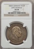 German States:Lippe-Detmold, German States: Lippe-Detmold. Paul Friedrich Emil Leopold III Pairof Certified Talers 1860-A,... (Total: 2 coins)