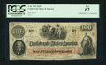 Confederate Notes:1862 Issues, T41 $100 1862 PF-13 Cr.-321A.. ...