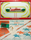 Miscellaneous:Ephemera, [Board Games, Electric]. Tudor Tru-Action Electric Horse Race Game, Complete in Original Lithograph Box. Brookly...