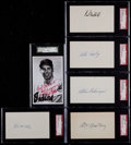 Autographs:Index Cards, Baseball Deceased Hall of Famers SGC Authentic Signed IndexCards/Post Card Lot of 16. ...