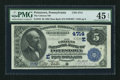 National Bank Notes:Pennsylvania, Pottstown, PA - $5 1882 Date Back Fr. 533 The Citizens NB Ch. #(E)4714. ...