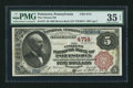 National Bank Notes:Pennsylvania, Pottstown, PA - $5 1882 Brown Back Fr. 472 The Citizens NB Ch. #4714. ...