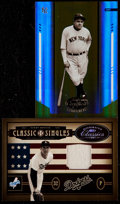 Baseball Cards:Lots, 2004 Leaf Certified Materials Mirror Gold Babe Ruth & 2004Donruss Classics Sandy Koufax Classic Singles Pair (2)....