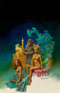 Pulp, Pulp-like, Digests, and Paperback Art, Boris Vallejo (American, b. 1941). The City, Ape's Land,paperback cover, 1979. Oil on board. 28 x 18.25 in. (sight).Si...