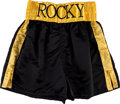 "Movie/TV Memorabilia:Costumes, A Pair of Boxing Trunks from ""Rocky Balboa"" (aka ""Rocky VI"")...."