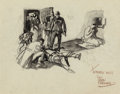 Mainstream Illustration, Dean Cornwell (American, 1892-1960). The Emergency. Penciland ink wash on paper. 8 x 10.25 in. (sight). Signed and insc...