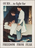 "Movie Posters:War, Norman Rockwell Four Freedoms Propaganda Poster (U.S. GovernmentPrinting Office, 1943). OWI Poster No. 45 (28"" X 40"") ""Free..."