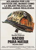 "Movie Posters:War, Full Metal Jacket (Warner Brothers, 1987). Argentinean Poster (41""X 56.5""). War.. ..."