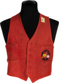 "Movie/TV Memorabilia:Costumes, A Vest from ""Paradise Alley.""..."