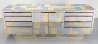 Paul Evans (American, 1931-1987) Cityscape Credenza, circa 1975, Directional Brass, stainless steel