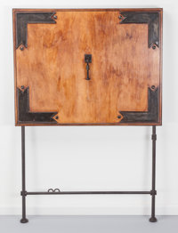 Ilana Goor (Israeli, b. 1936) Wall Desk, circa 1980 Walnut and enameled iron 58-1/2 x 39 x 4 inch