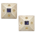 Estate Jewelry:Earrings, Tanzanite, Citrine, Sterling Silver Earrings. ...