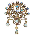 Estate Jewelry:Pendants and Lockets, Opal, Gold Pendant-Brooch. ...