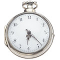 Timepieces:Pocket (pre 1900) , Liverpool Lever Fusee Pair Case Silver Pocket Watch. ...
