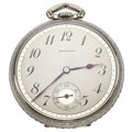 Timepieces:Pocket (post 1900), E. Howard 17 Jewels Open Face Pocket Watch. ...