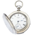 Timepieces:Pocket (pre 1900) , Waltham Coin Silver 18 Size Hunter's Case Pocket Watch. ...