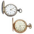 Timepieces:Pocket (pre 1900) , Liverpool Lever Fusee & Elgin Pocket Watches. ... (Total: 2Items)