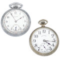 Timepieces:Pocket (post 1900), Burlington 21 Jewel & Illinois 17 Jewel Pocket Watches Runners. ... (Total: 2 Items)
