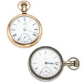 Timepieces:Pocket (post 1900), Rockford & Waltham 18 Size Pocket Watches Runners. ... (Total:2 Items)