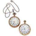 Timepieces:Pocket (post 1900), Hamilton 21 Jewel & Elgin 17 Jewel Open Face Pocket Watches. ... (Total: 2 Items)