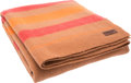 "Luxury Accessories:Bags, Hermes Brown, Orange & Red Wool Blanket. ExcellentCondition. 70"" Width x 60"" Length. ..."