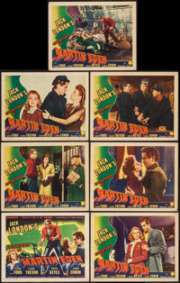 """The Adventures of Martin Eden (Columbia, 1942). Title Lobby Card & Lobby Cards (6) (11"""" X 14""""). Advent..."""