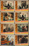 "Movie Posters:War, Suicide Squadron (Republic, 1941). Title Lobby Card & LobbyCards (7) (11"" X 14""). War.. ... (Total: 8 Items)"