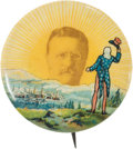 Political:Pinback Buttons (1896-present), Theodore Roosevelt: Colorful Welcome Button....