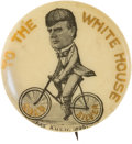 Political:Pinback Buttons (1896-present), William McKinley: Bicycle Cartoon Pin....