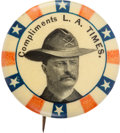 Political:Pinback Buttons (1896-present), Theodore Roosevelt: Rough Rider Newspaper Pin....